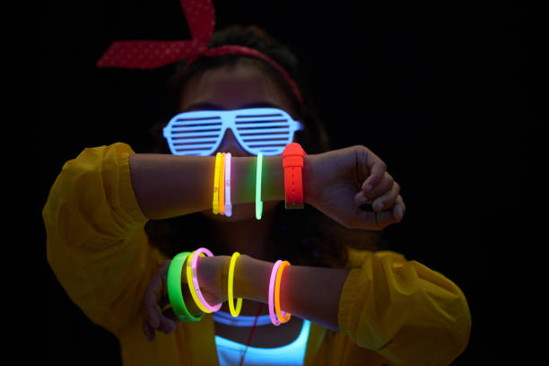 neon accessory - glowing stock pictures, royalty-free photos & images