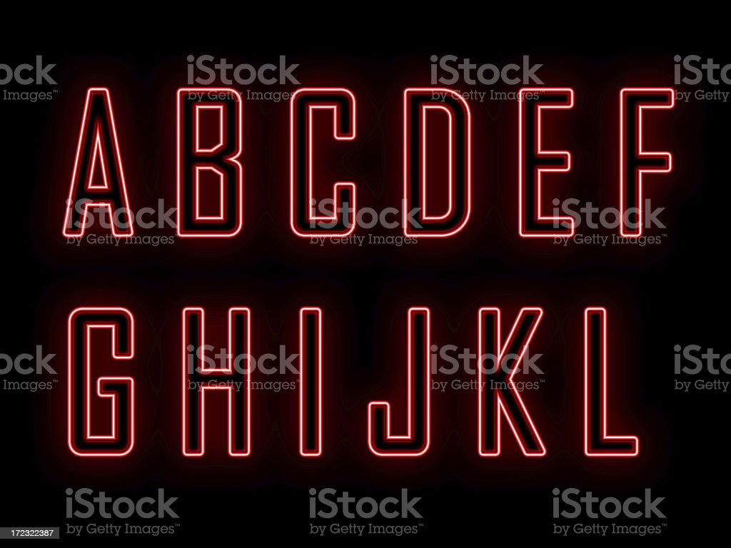 Neon A-L royalty-free stock photo