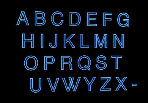 istock neon alphabet letters set 1144984052