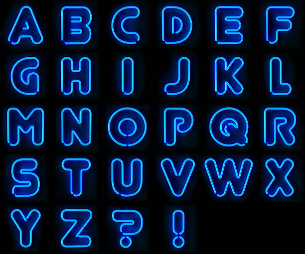 Alfabeto Neon - foto stock