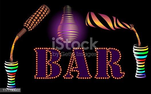 istock Neon bar. 1171193022