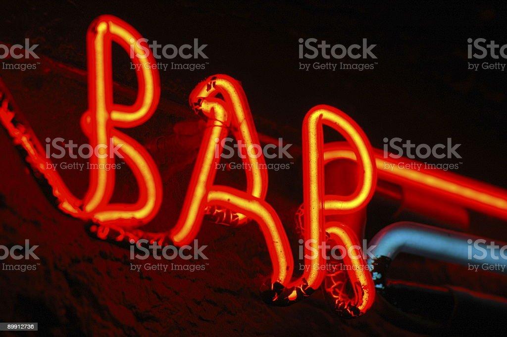 Neon Bar Sign royalty-free stock photo