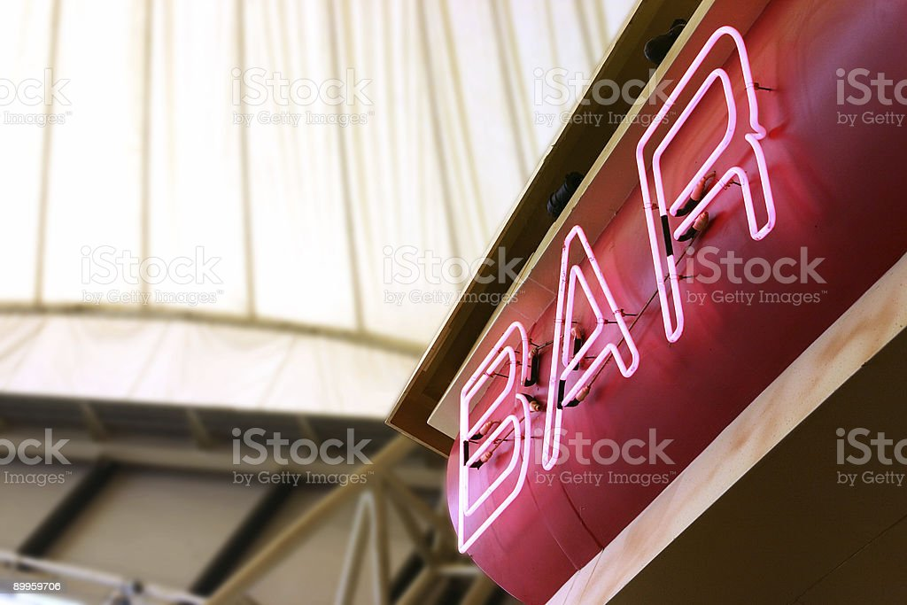 Neon Bar Sign royalty-free stock photo