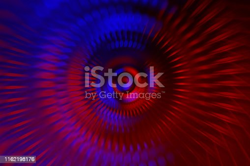 istock Neon Blue Red Abstract Turbine Blades Jet Engine Background 1162198176