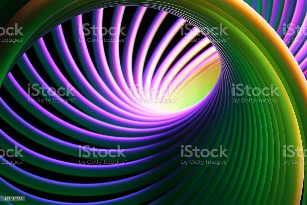 Neon Bright Spiral stock photo