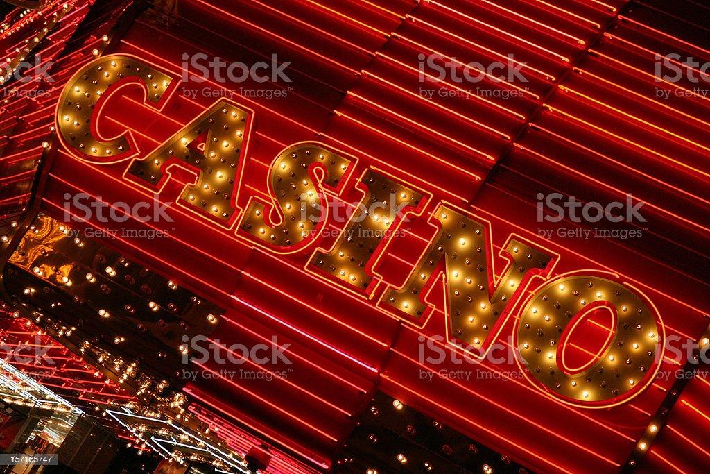 Neon Casino Lights royalty-free stock photo