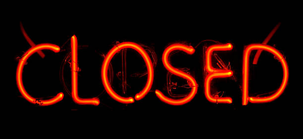 Neon Closed Sign stock photo