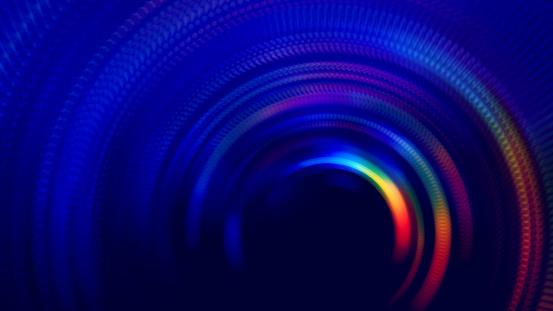 Neon Colorful Tunnel Abstract Speed Blurred Motion Long Exposure Swirl Spiral Circle Wave Pattern