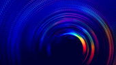 Neon Colorful Tunnel Abstract Speed Blurred Motion Long Exposure Swirl Spiral Circle Wave Pattern Distorted Macro Photography