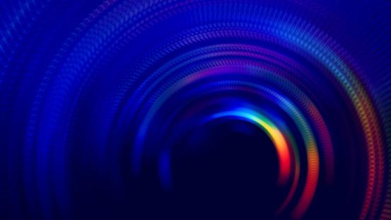 Neon Bunte Tunnel Abstrakte Geschwindigkeit Verschwommene Bewegung Lange Belichtung Wirbel Spiralkreis Welle Muster Stockfoto und mehr Bilder von Abstrakt