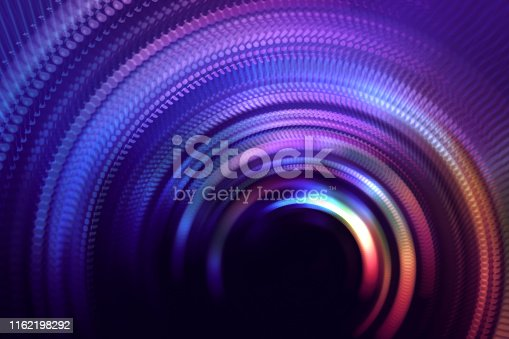 Neon Colorful Tunnel Door Abstract Speed Blurred Motion Rotor Long Exposure Swirl Spiral Circle Wave Pattern Distorted Macro Photography