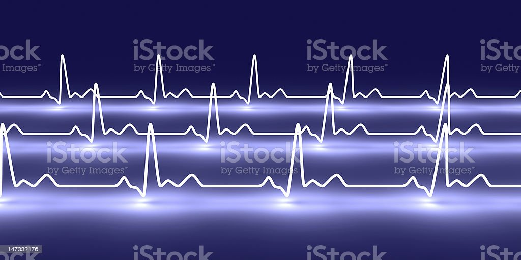 Neon design of heart pulsation royalty-free stock photo