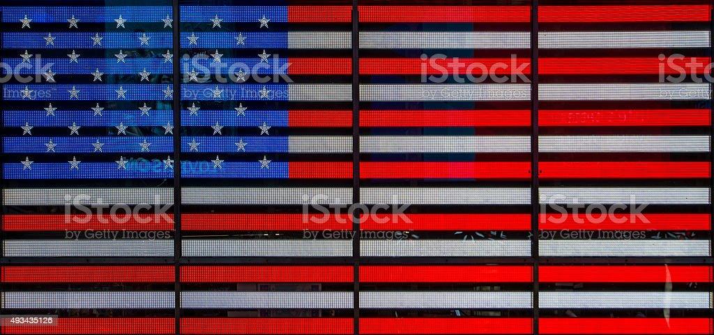 USA neon flag stock photo