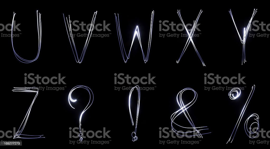 neon font (part 3) royalty-free stock photo