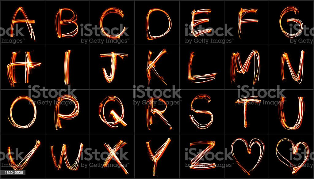 Neon Font royalty-free stock photo