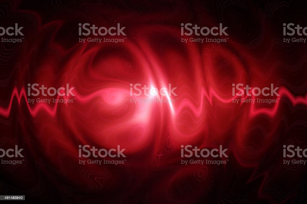 Neon ghosts - in red. stock photo