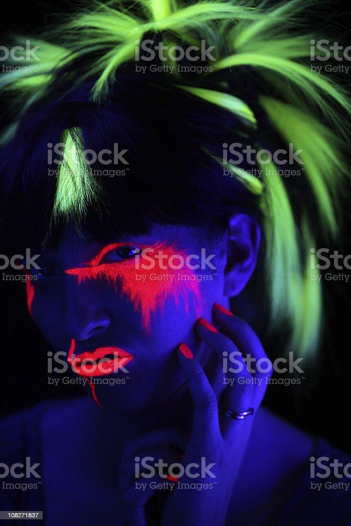 Neon Glow Portrait royalty-free stock photo