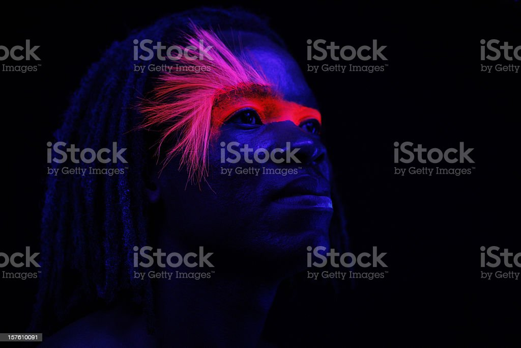 Neon Glow Portrait stock photo