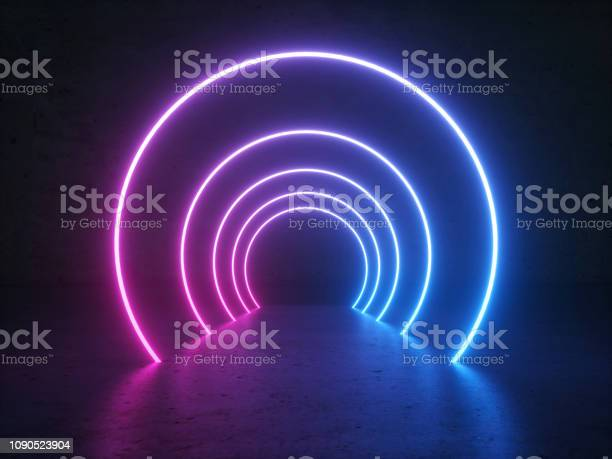 Neon glowing circle round shape tubes on reflection concrete floor picture id1090523904?b=1&k=6&m=1090523904&s=612x612&h=u8a6iillndw2htri4gg3x7qse0fo12mgthaksx0ti6y=