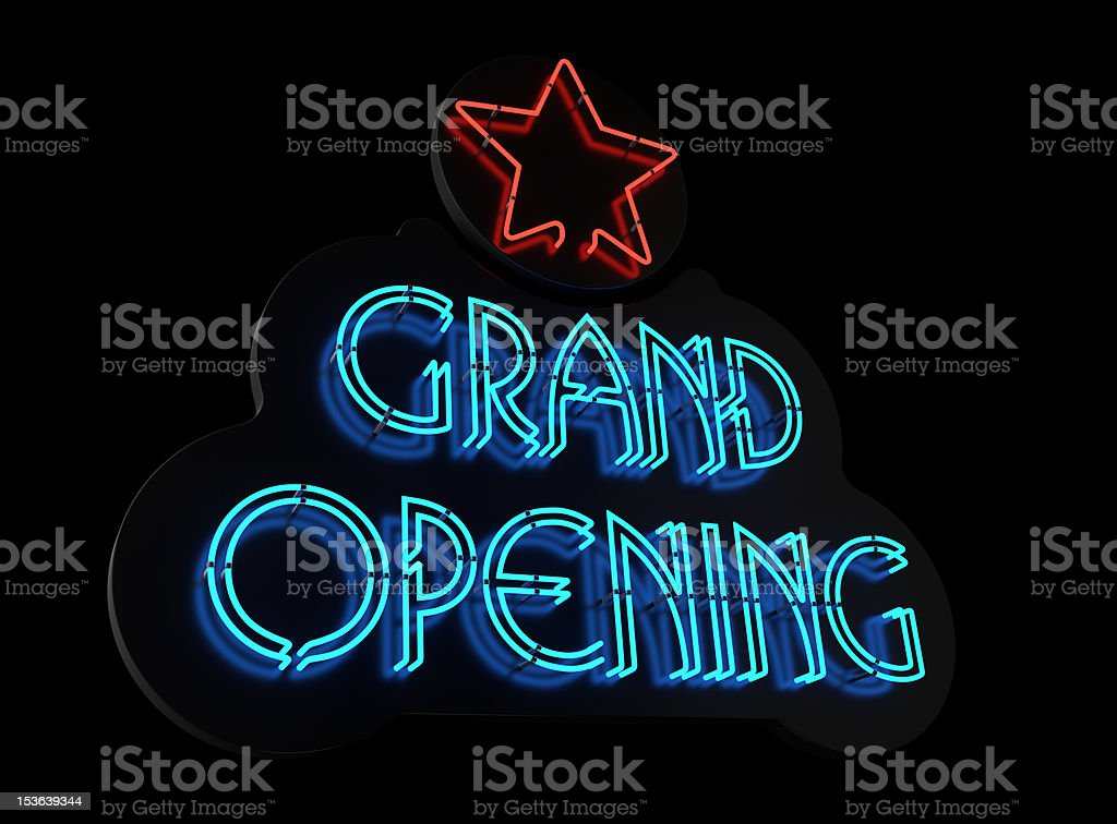 Neon Grand Opening Sign II stock photo