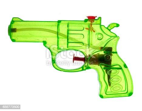 Small fluorescent water pistol squirter.