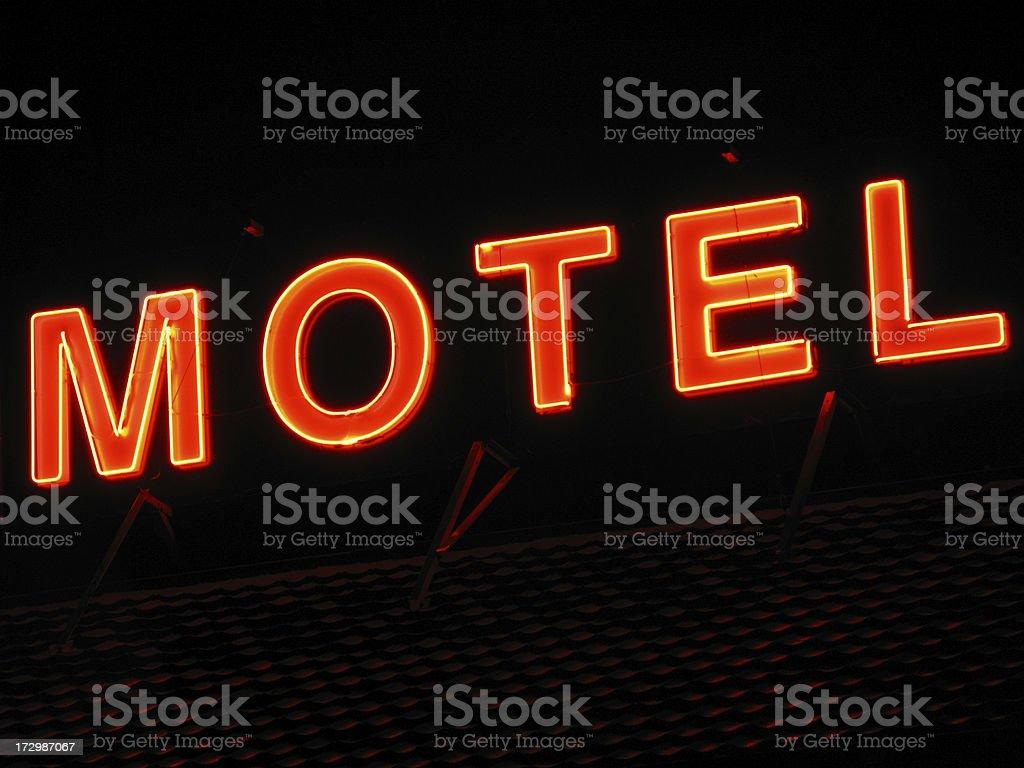 neon hotel royalty-free stock photo