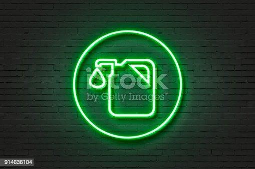 istock neon icon light fuel 914636104