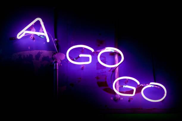 Neon light - A go go Bar stock photo