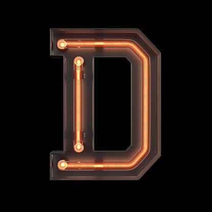 istock Neon Light Alphabet D 1169061202