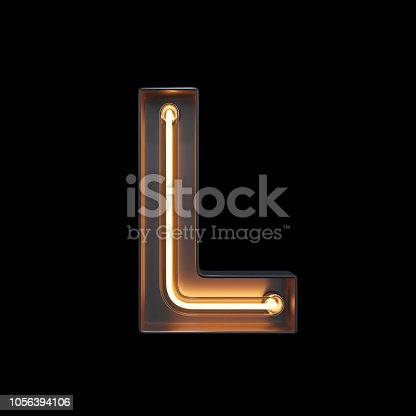 istock Neon Light Alphabet L with clipping path 1056394106