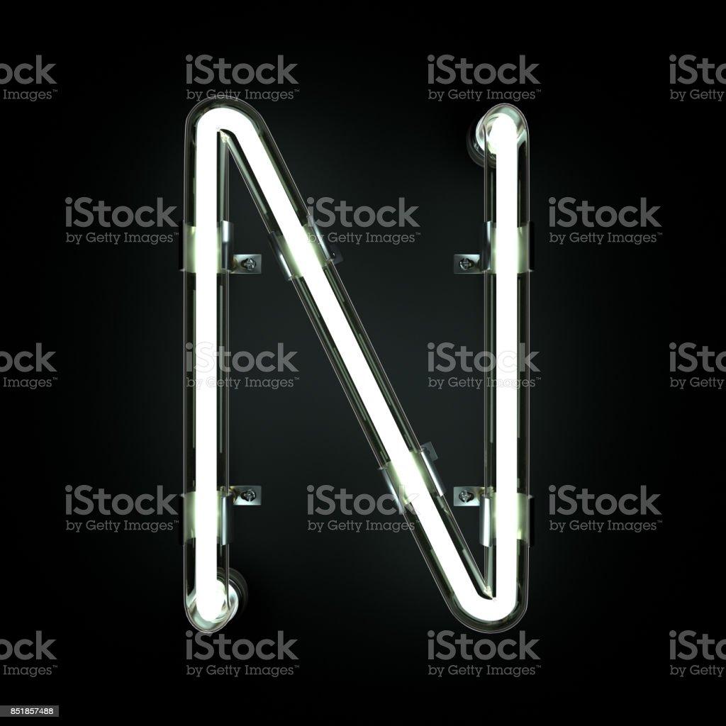 Neonlicht Alphabet N. – Foto