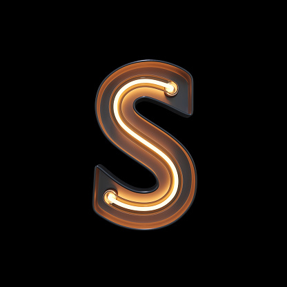 istock Neon Light Alphabet S with clipping path 1056394964