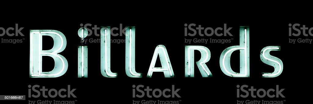Neon light : Billards stock photo