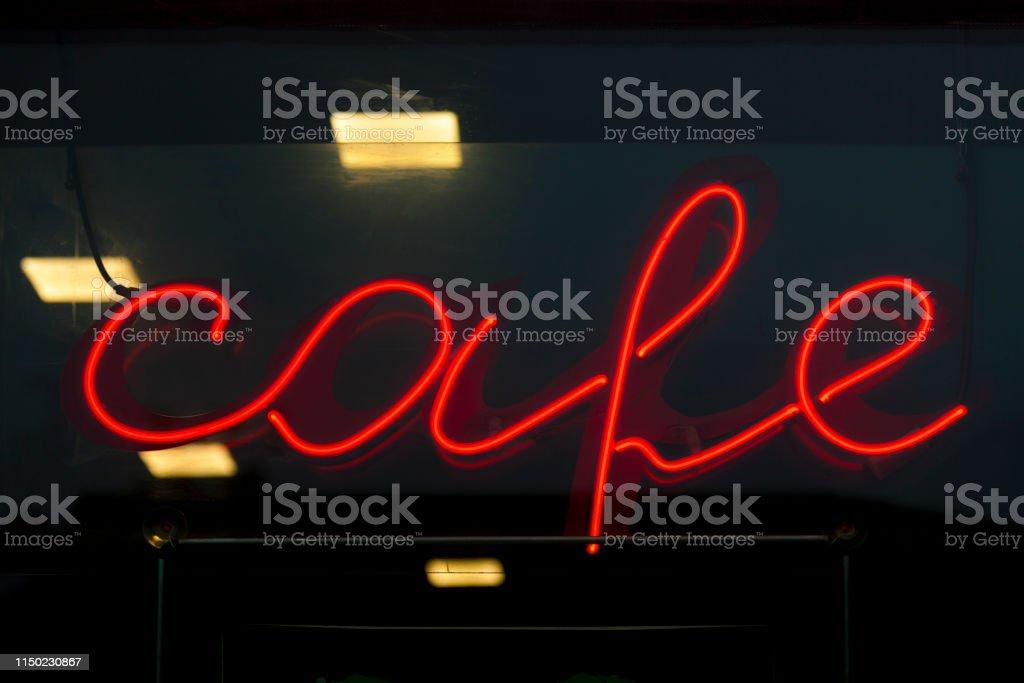 Neon light - Cafe stock photo