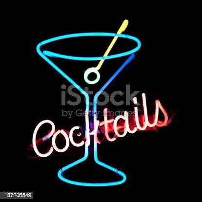 istock Neon light cocktail 187205549