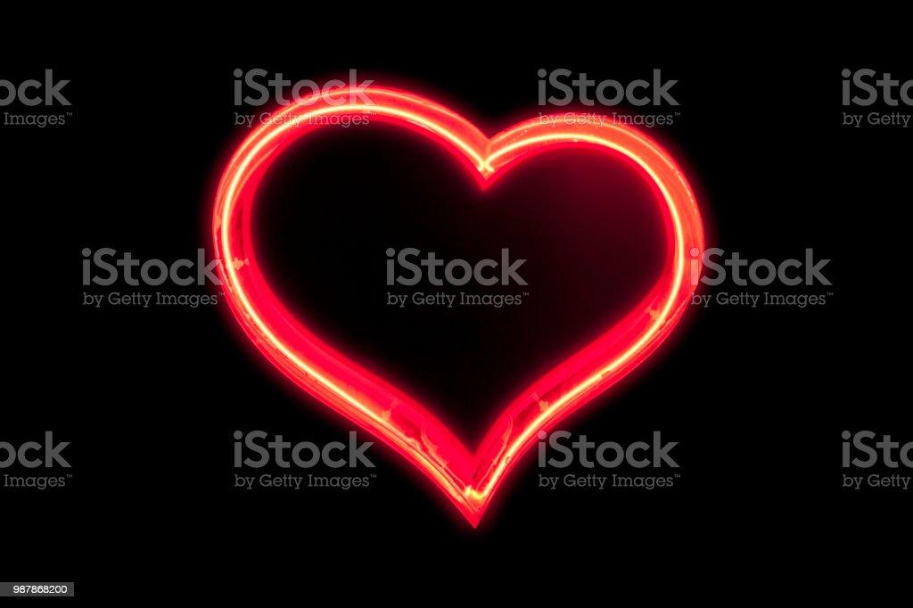 Neon light : Heart stock photo