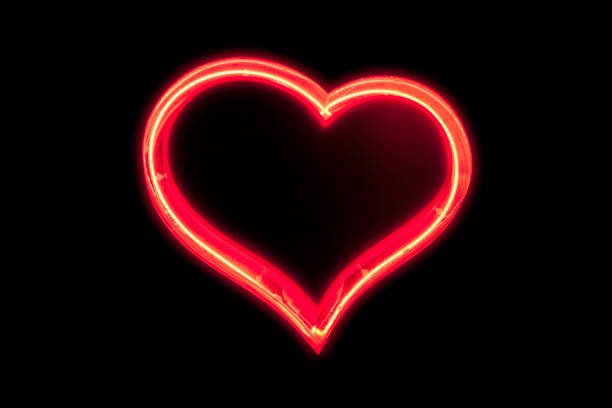 Neon light : Heart stock photo