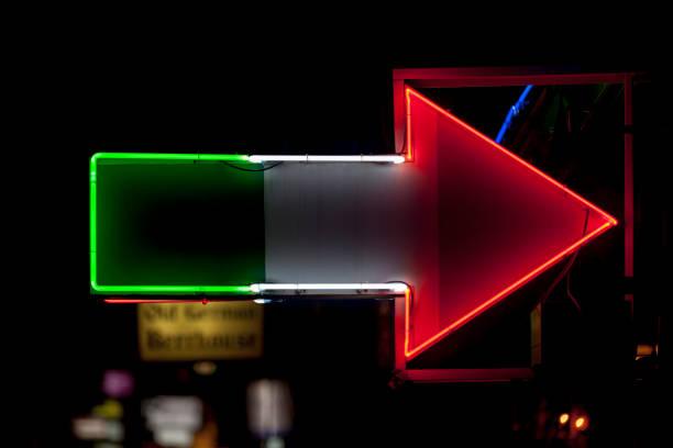 Neon light - Italian restaurant stock photo