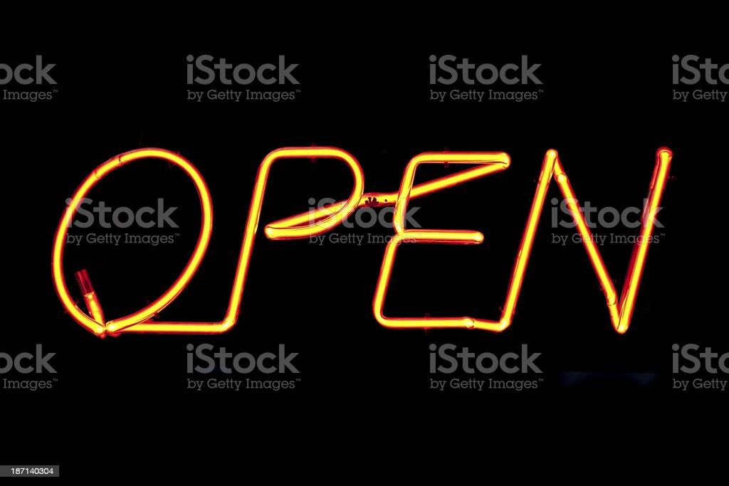 Neon light : open stock photo