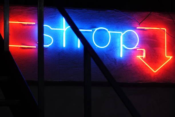 Neon Light Shop - foto stock
