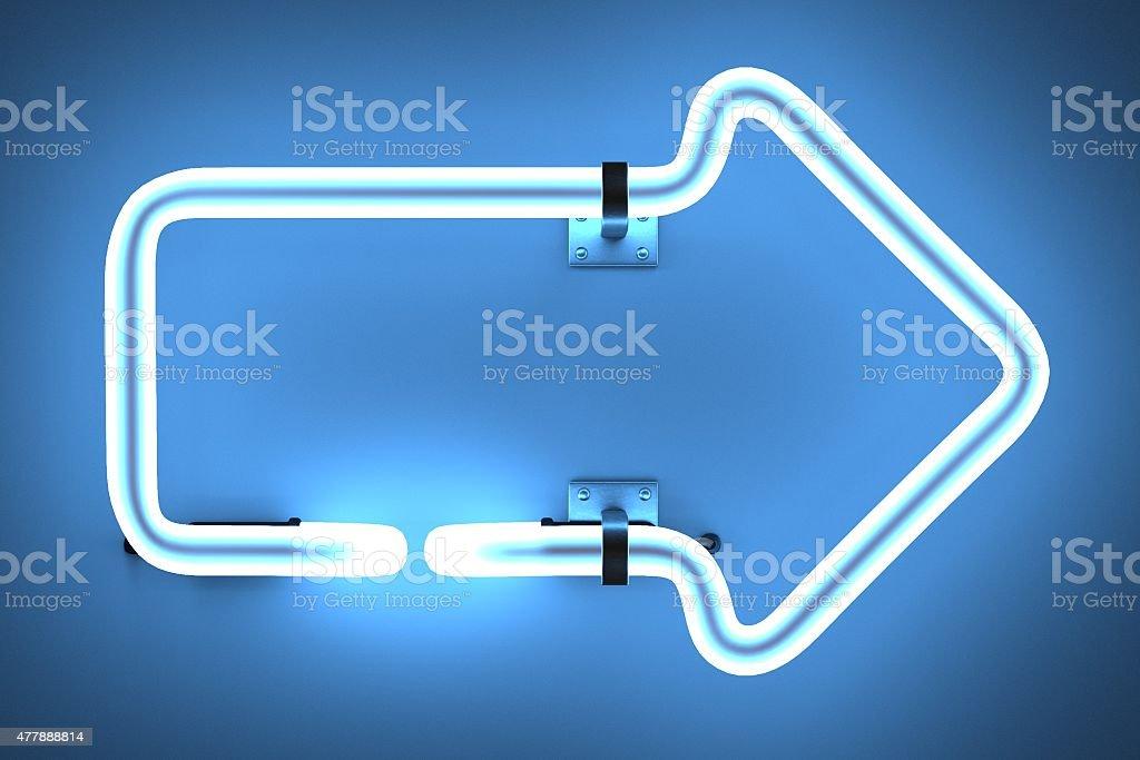 neon lights - arrow stock photo
