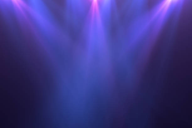 Neon Lights, Lens Flare, Space Light, Black Background Neon Lights on Black Background, Abstract, Futuristic Space Lights. stage light stock pictures, royalty-free photos & images