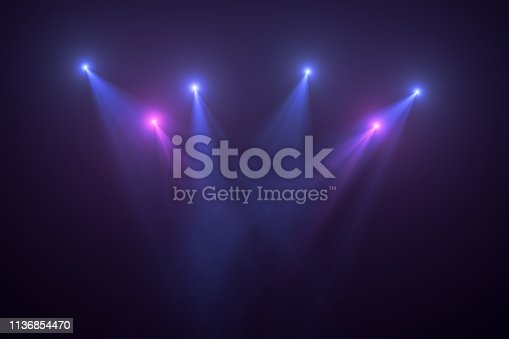 Neon Lights on Black Background, Abstract, Futuristic Space Lights.