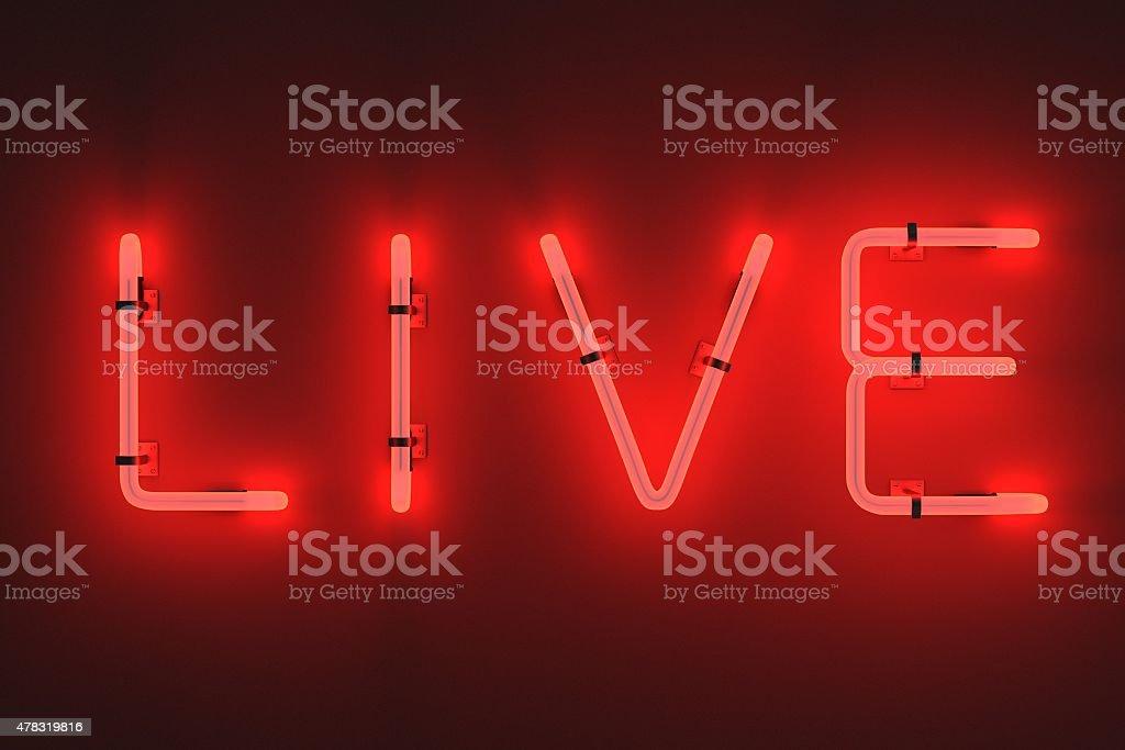 Luzes de neon-live - foto de acervo