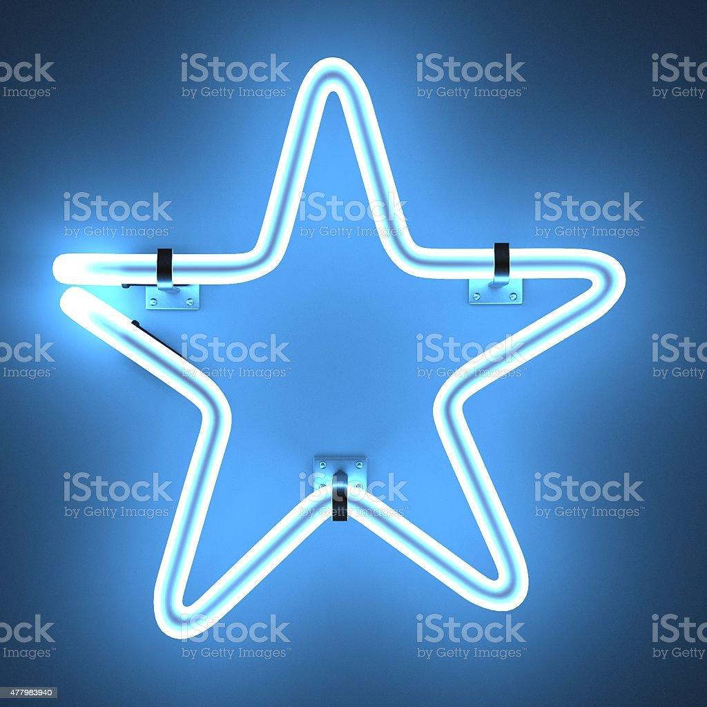 neon lights - star stock photo