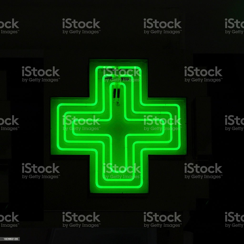 Neon Medical Sign stock photo