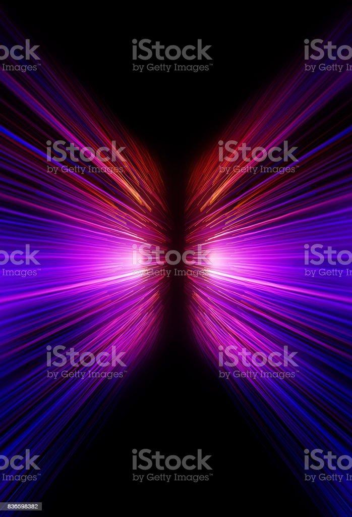 neon motion blur zoom background stock photo