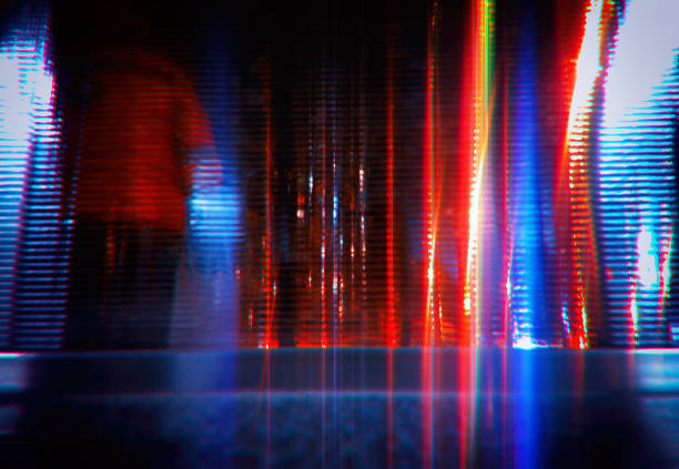 Neon night future city street abstract background stock photo