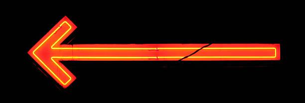 Neon Orange and Yellow Arrow stock photo