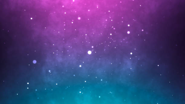 Neon particles background. Blue pink abstract glowing space Neon particles background. Blue pink abstract glowing space stage light stock pictures, royalty-free photos & images